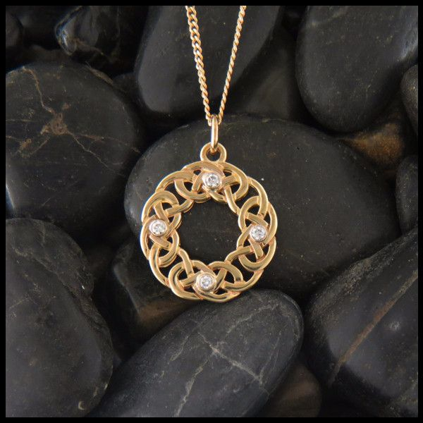 31 best celtic pendants in gold images on pinterest item number josephines knot celtic pendant in gold with diamonds aloadofball Choice Image