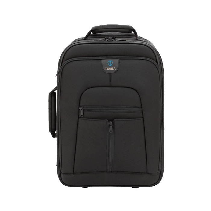 £198 The Roadie II Universal Photo/Laptop case holds a large professional DSLR, HD video or medium format camera system, as well as a laptop (up to 17 inches), plus tons of accessories. The Universal Roadie meets the strictest international airline carry-on standards. Heavy-duty, five-section handle extends to full, comfortable walking height, easing the strain on your back and shoulders when wheeling through long airport stretches.