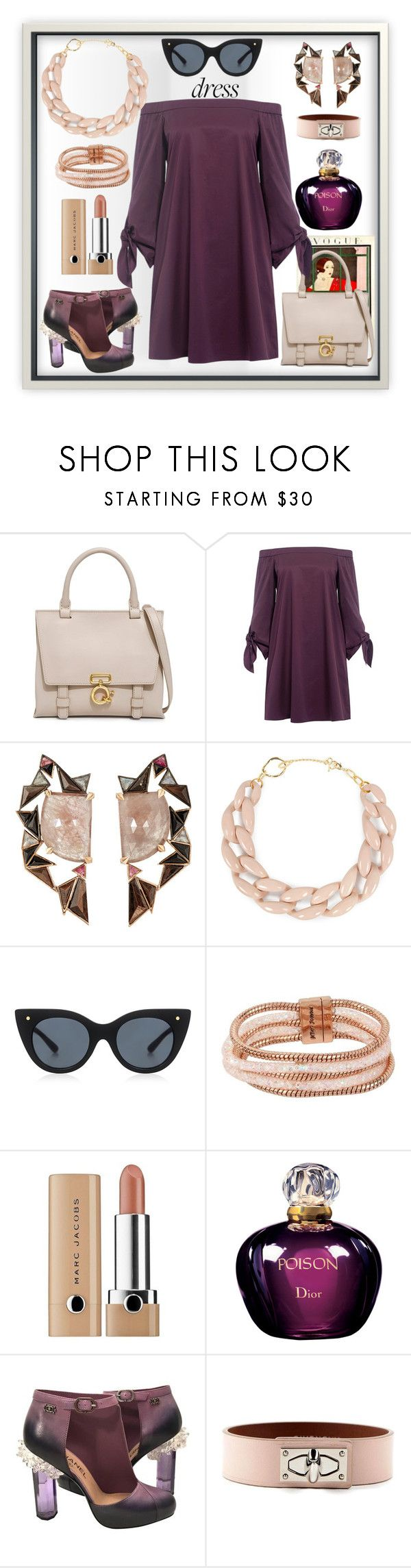 """""""That Girl Is Poison ☠"""" by mavinex-de-nova ❤ liked on Polyvore featuring 10 Crosby Derek Lam, TIBI, Nak Armstrong, DIANA BROUSSARD, Le Specs Luxe, Betsey Johnson, Marc Jacobs, Christian Dior, Chanel and Givenchy"""