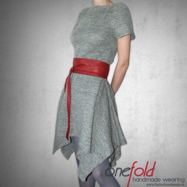 rochie tricotata de mana din fir lana subtire