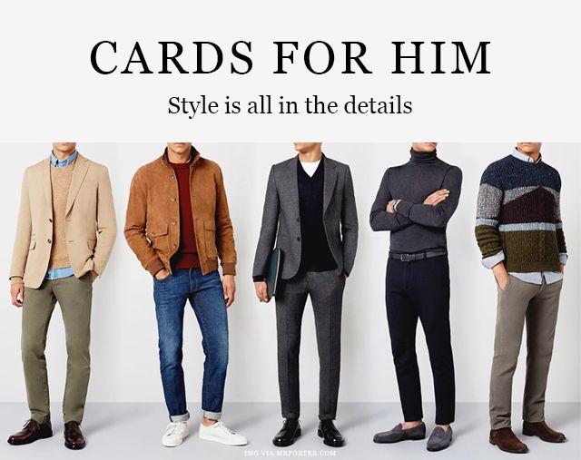 Shop cards for him inspired by men's fashion  #shopforhim #forhim #menstyle #cardsforhim #paperprovision