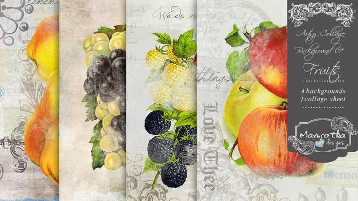 Artsy Collage Background 07 - Fruits