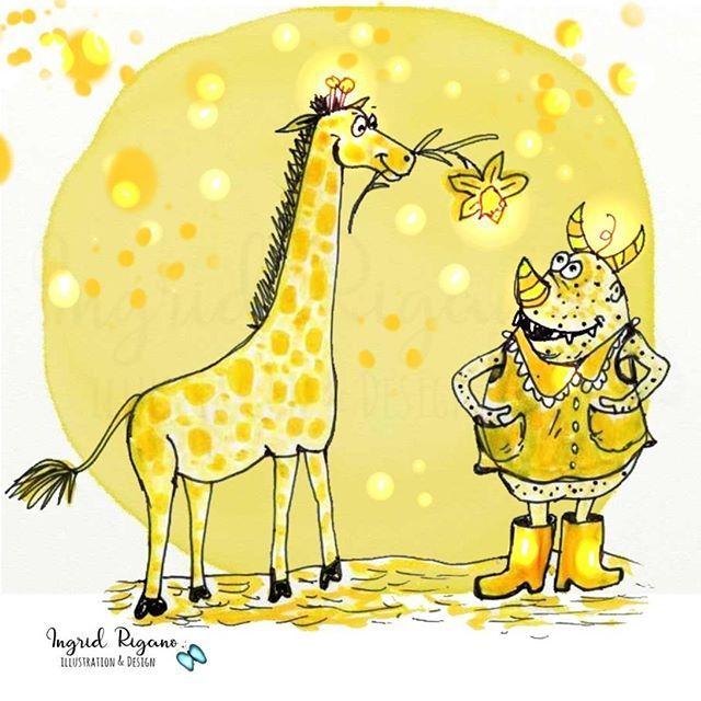 Ohhh...jetzt aber schnell noch mein Beitrag zur Challenge #einefarbereicht @anne_kubik @goranaguiboud #gelb . #narzisse #giraffe #gummistiefel #gelb #myart #zeichnen #malen #aquarell #illustrator #erfolgreichillustrator #kinderbuchillustration #skizze #zeichnung #illustrator #kritzelei #love #monster #lovelyday #happy #instadraw . ☀️