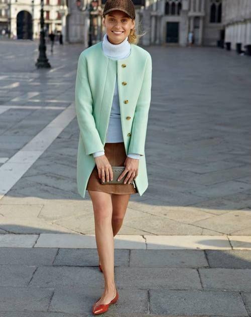 Mint green jacket