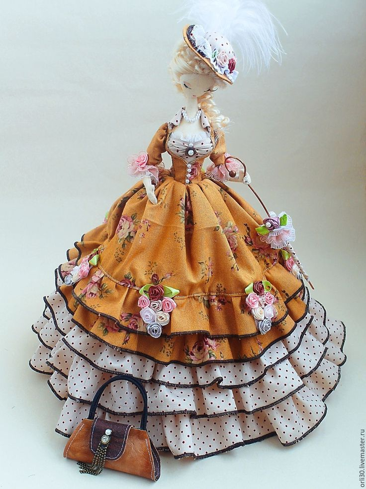 Купить Текстильная кукла. Тряпиенс. Татьяна - коричневый, текстильная кукла, тряпиенса, тряпиенс, тряпиенсы