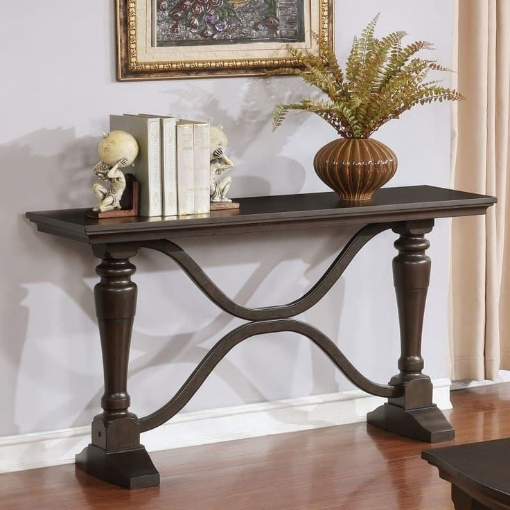 Best quality furniture traditional cappuccino console