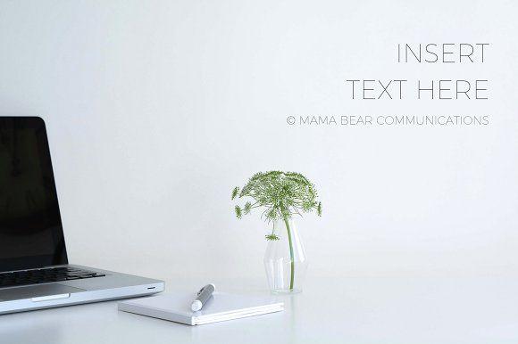 Styled Stock Photo | Minimal Desktop by mamabearcomms on @creativemarket