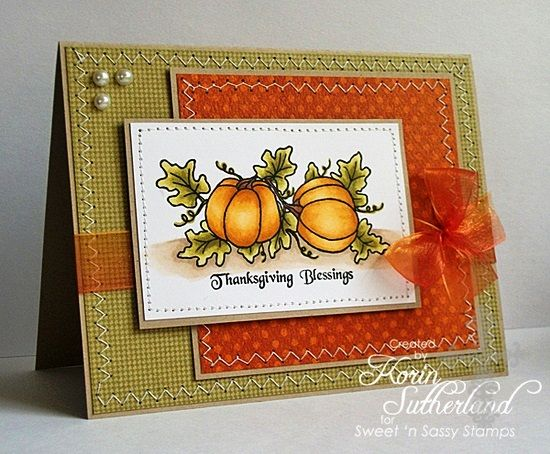 17 Best images about Fall/Thanksgiving Cards on Pinterest