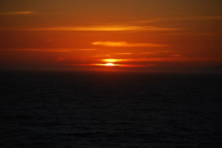 Incredible sunset from on board the cruise ship