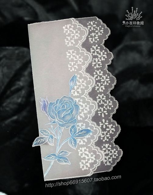 【Pergamano 纸蕾丝】ROSE 蓝色妖姬 | Flickr: partage de photos!