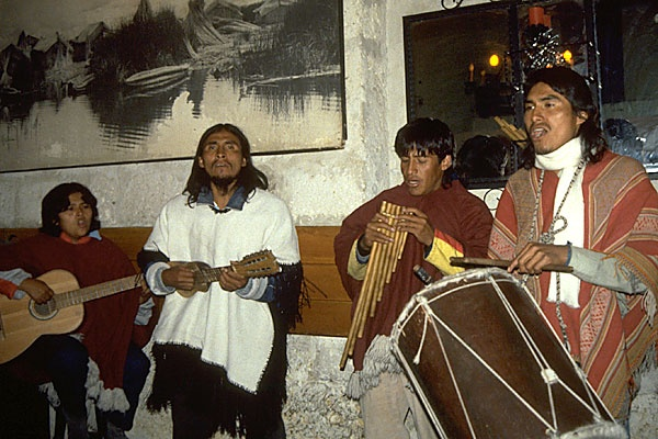 T.   Peru is widely known for it's Andean music, which originated in the 1600's when the Spanish brought stringed instruments with them to the Andes mountains.