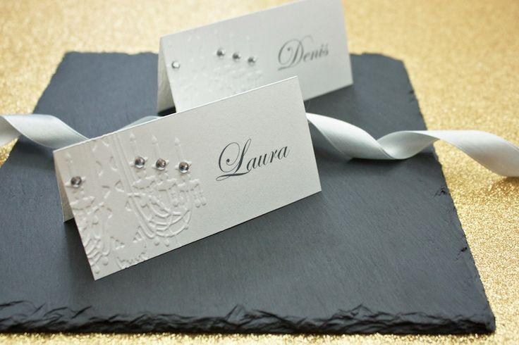 Elegant embossed place cards   lucyvanbarnes.de