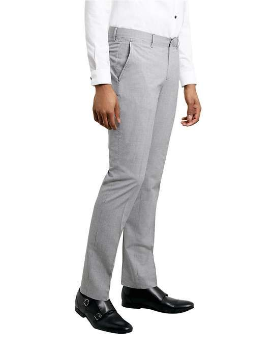 Topman | Black and White Houndstooth Suit Trousers #topman #trousers
