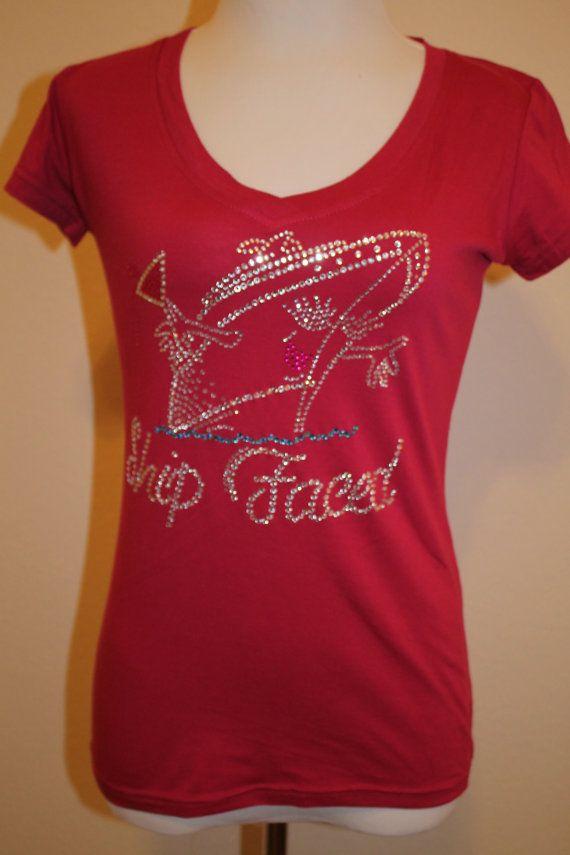 Bling Rhinestone Embellished VNeck Tshirt Rosio Size by YouToATee, $19.99