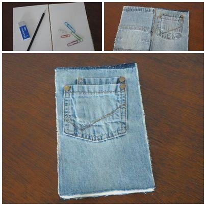 Cuaderno artesanal de jeans