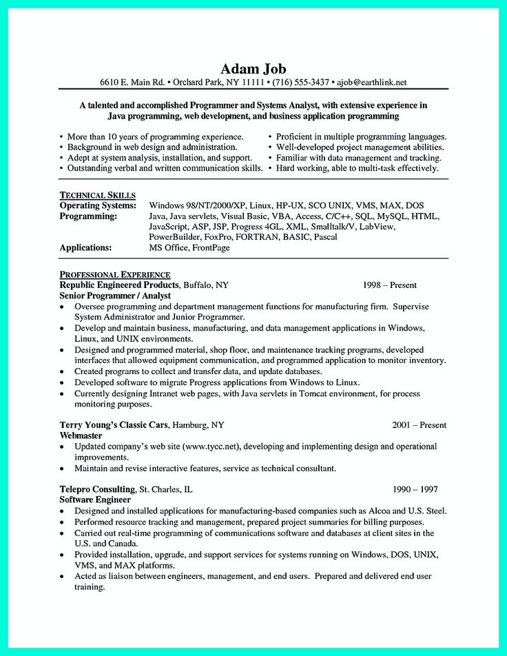 54 best Resume Templates Download images on Pinterest Resume - system analyst resume