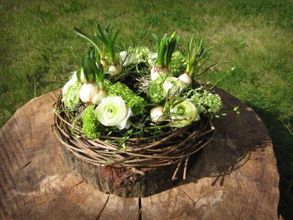 Voorjaarsnest in wit – groene tinten #EasyPin