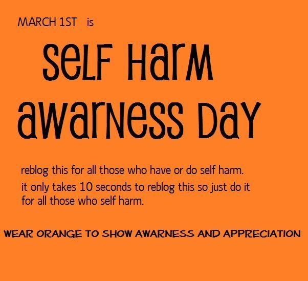 Self harm awareness. stay strong lovelies <3