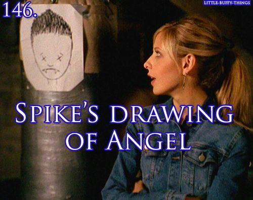 Spike's artistic rendering of Angel