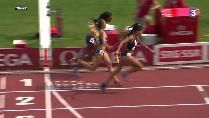 4x400m European Championships 2014 Floria Guei Spectacular Finish!