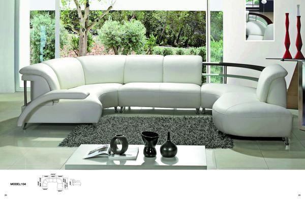 Luxury Contemprory U Shape Sofa Modular Sectional Leather Lounge 5