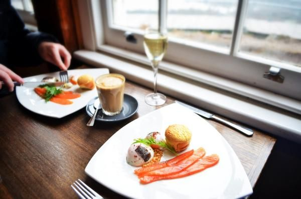 Truffle-infused slow-cooked eggs, soufflé, Huon salmon. So, what are you having for lunch? #salmon #truffle #tasmania #launceston #discovertasmania Image Credit: Paul Fleming