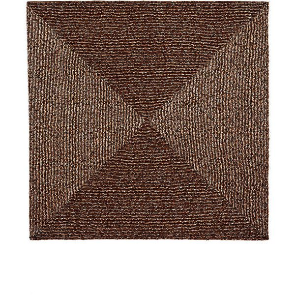 Elegant Kim Seybert Beaded Square Placemat ($39) ❤ Liked On Polyvore Featuring  Home, Kitchen
