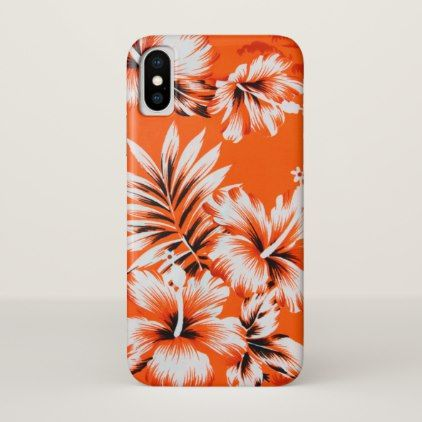 Hawaiian Hibiscus Flower Background iPhone X Case - flowers floral flower design unique style