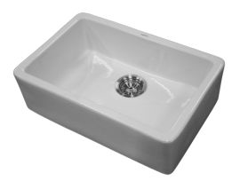 TR-40337 Butler Sink  Measurements: W:595mm, D:395mm   Material: Ceramic   Colour: White   Comments: 90mm Waste not included (Sold Separately)