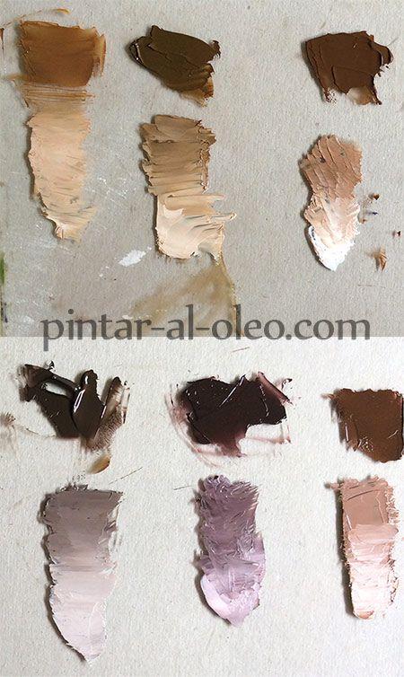 mezclas para hacer color marron o cafe con pinturas