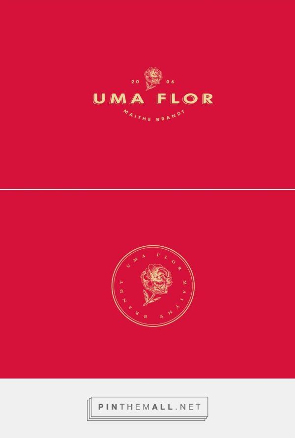 UMA FLOR Logo Design by Paulo Agostini | Fivestar Branding Agency – Design and Branding Agency & Curated Inspiration Gallery #design #logoinspirations #logo #branding #brand #design #designinspiration