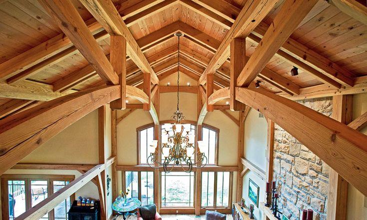 Timber frame bridge truss news eastern white pine for Timber frame sunroom addition