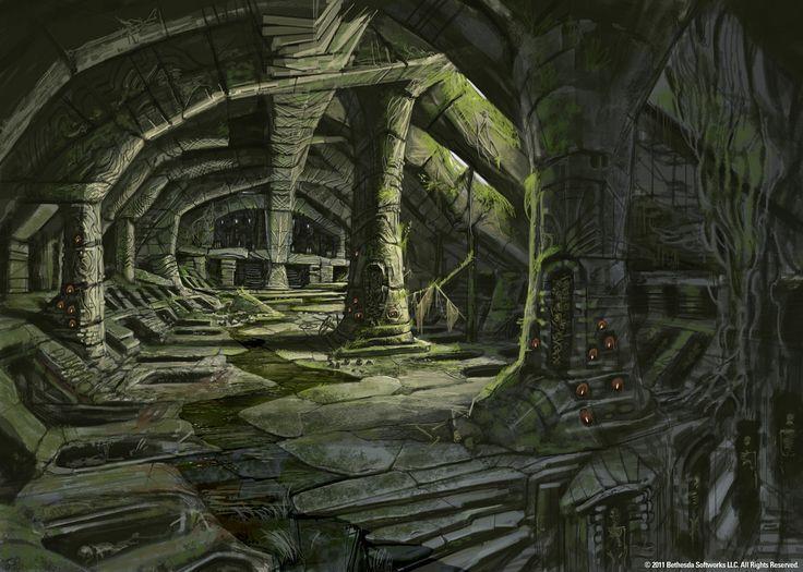 Image result for underground ruins | Skyrim concept art, Skyrim art, Game  concept art