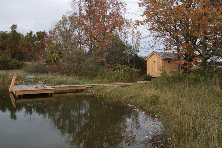 perfect site for a sauna  by Rob Licht Custom Saunas