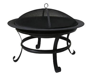 Focolare in ferro nero Jacopo, 77x75 cm