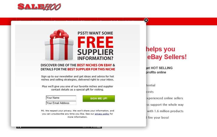 """""""Get full access to SaleHoo's directory of legitimate, trusted suppliers 60-day…"""