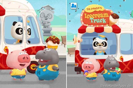 Dr. Pandas Eiswagen Spiel - Kleinkinder App für iOS, Android, Kindle Fire