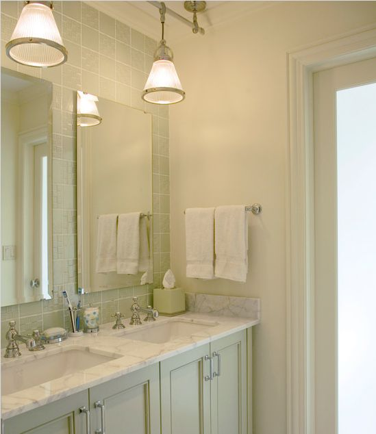 Stone and tile for bathroom pendant lights above vanity for Lighting over bathroom vanity