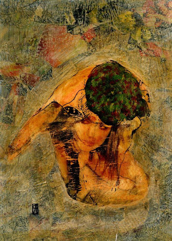 6-KARMA de ARTE. Egon VI.  Pintura mixta.  www.crisacqua.com