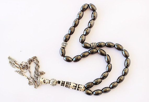 Prayer Beads Hematite Tesbih 33 Tasbih by asteriascollection