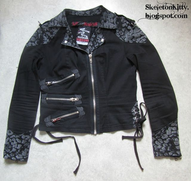"""LIP SERVICE Zip Service """"Chained To The Radiator"""" jacket #28-169"""
