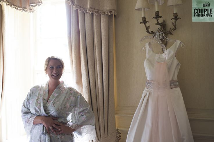 The bride with her beautiful wedding dress. Weddings at Cliff At Lyons by Couple Photography.