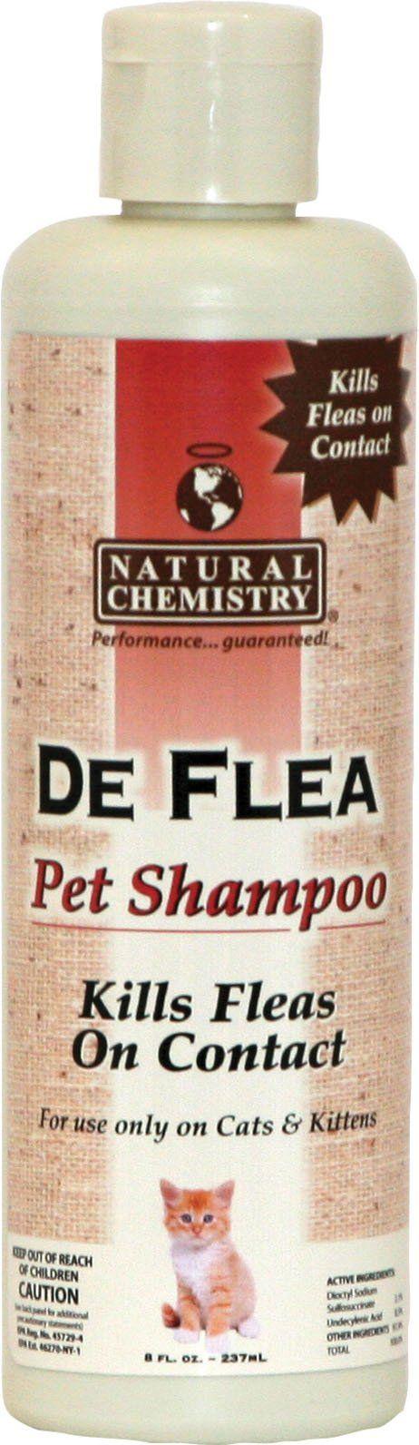 Natural Chemistry D-Deflea Pet Shampoo For Cats 8 Ounce