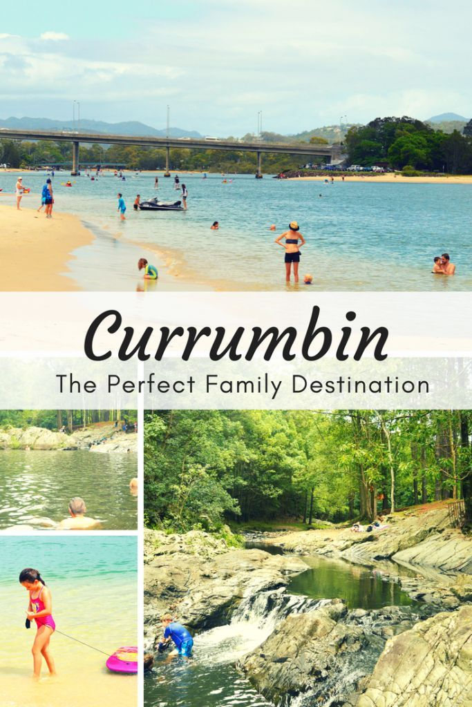 Currumbin (Gold Coast, Australia) has calm waters, playgrounds and plenty of nearby family activities making it the perfect destination for a family day trip or holiday.