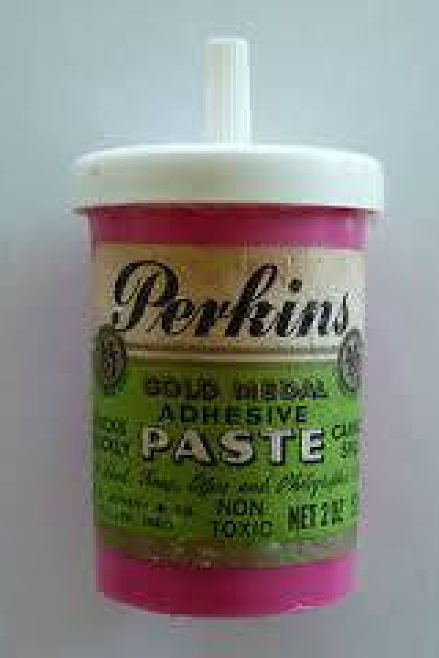 Perkins Paste ~ glue of the 70s