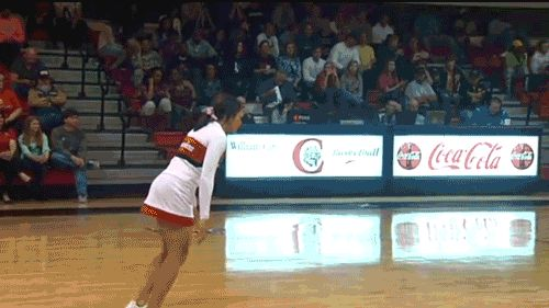 A Cheerleader Hit The Greatest Basketball Trick Shot You'll Ever See