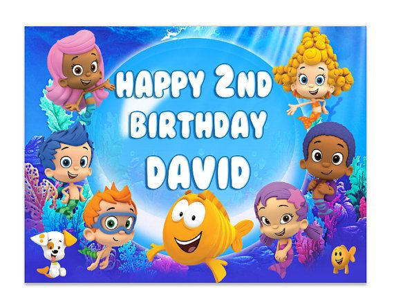 Bubble Guppies Edible Cake Image Topper on Frosting and Icing