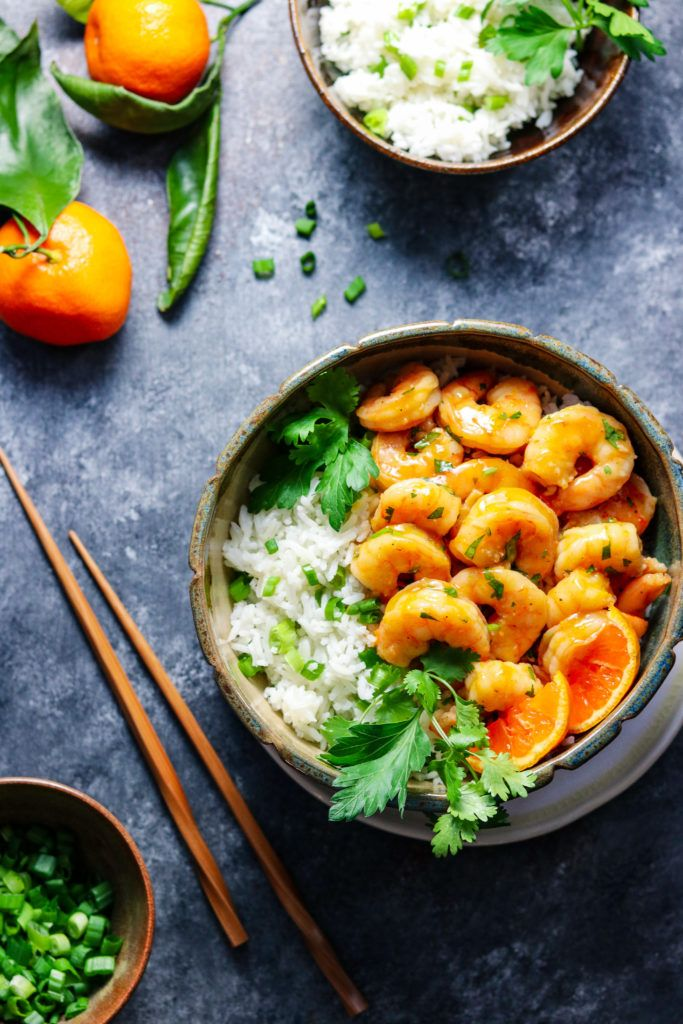 Orange and Honey Glazed Shrimp is a quick and easy recipe of plump shrimp bathing in a sweet n' spicy orange glaze serve…
