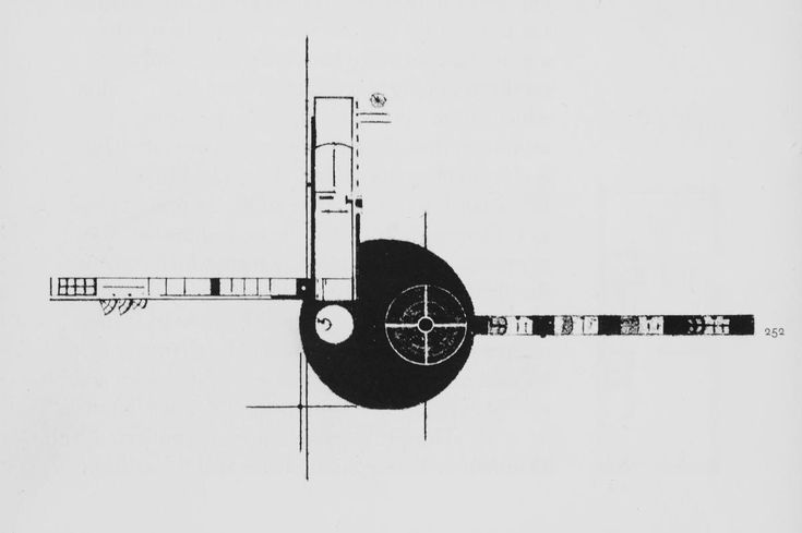Leonidov, Ivan (Russian architect, 1902-1959) Culture Russian Title Lenin Institute of Librarianship (project) plan Work Type Architectural drawing Date 1927 Style Period Constructivist | The Charnel-House