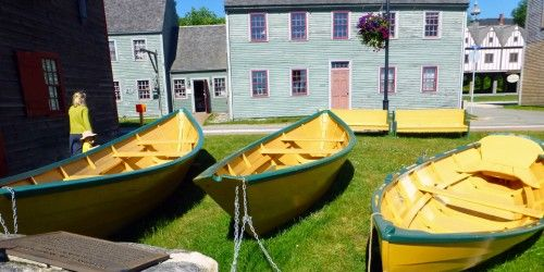 Dories at the Shelburne Museum, Shelburne NS